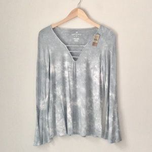 452b5e063cc American Eagle Outfitters Tops | Aeo Soft Sexy Bell Sleeve Top ...